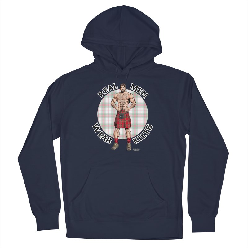 Real Men Wear Kilts Women's French Terry Pullover Hoody by Kyle's Bed & Breakfast Fine Clothing & Gifts Shop