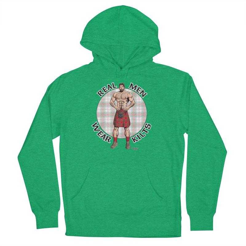 Real Men Wear Kilts Men's French Terry Pullover Hoody by Kyle's Bed & Breakfast Fine Clothing & Gifts Shop