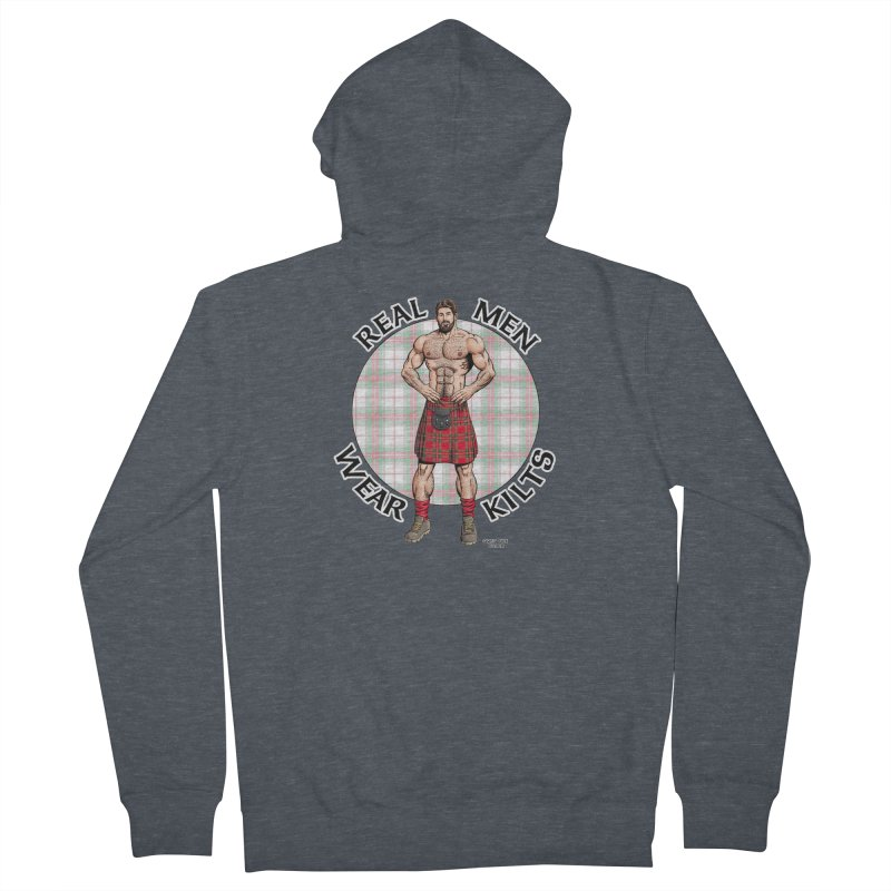 Real Men Wear Kilts Men's French Terry Zip-Up Hoody by Kyle's Bed & Breakfast Fine Clothing & Gifts Shop