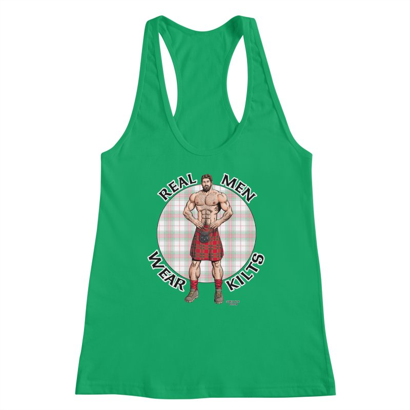 Real Men Wear Kilts Women's Tank by Kyle's Bed & Breakfast Fine Clothing & Gifts Shop