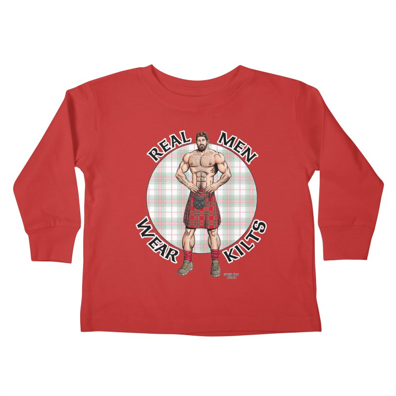 Real Men Wear Kilts Kids Toddler Longsleeve T-Shirt by Kyle's Bed & Breakfast Fine Clothing & Gifts Shop