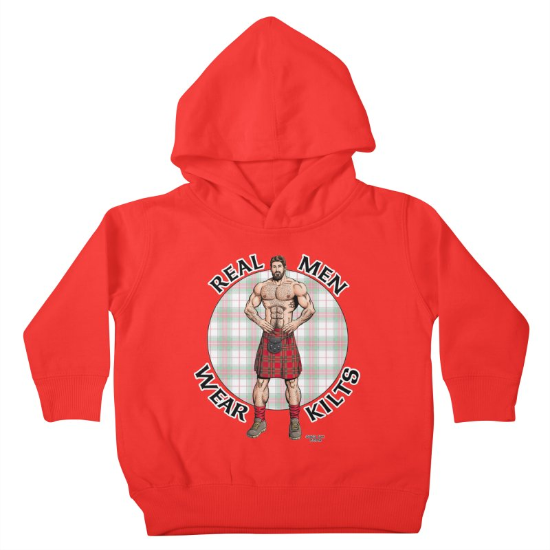 Real Men Wear Kilts Kids Toddler Pullover Hoody by Kyle's Bed & Breakfast Fine Clothing & Gifts Shop