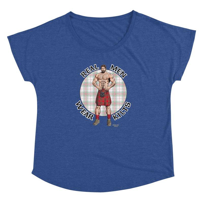 Real Men Wear Kilts Women's Scoop Neck by Kyle's Bed & Breakfast Fine Clothing & Gifts Shop