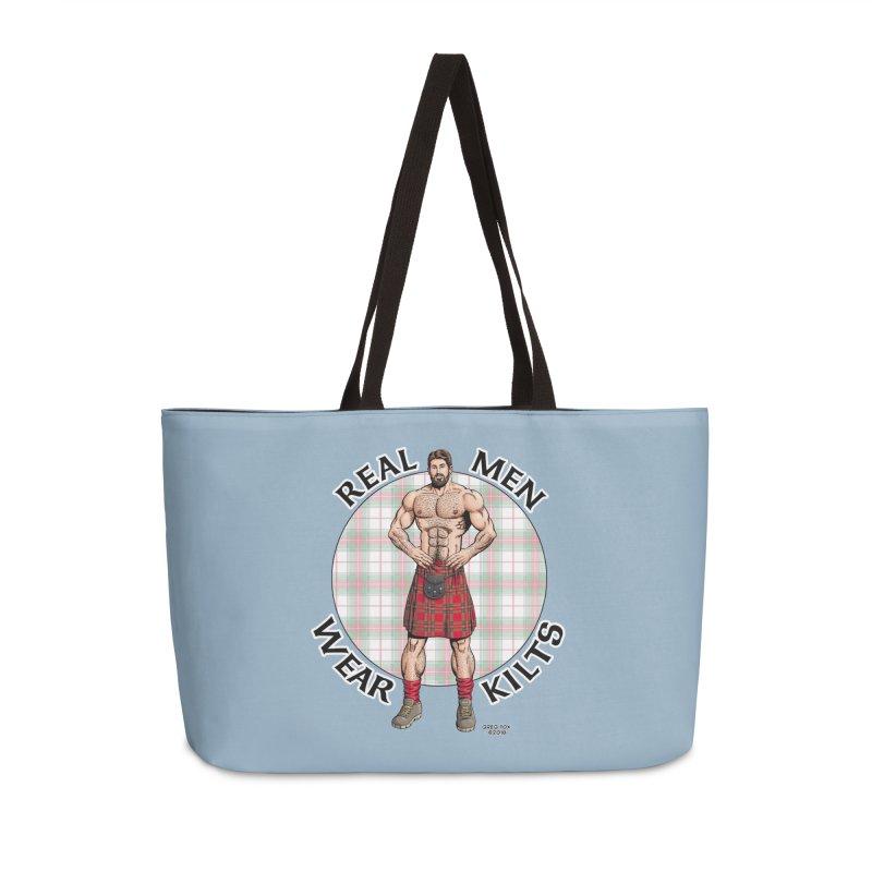 Real Men Wear Kilts Accessories Weekender Bag Bag by Kyle's Bed & Breakfast Fine Clothing & Gifts Shop
