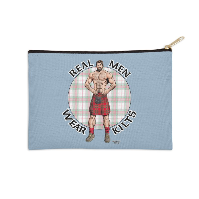 Real Men Wear Kilts Accessories Zip Pouch by Kyle's Bed & Breakfast Fine Clothing & Gifts Shop