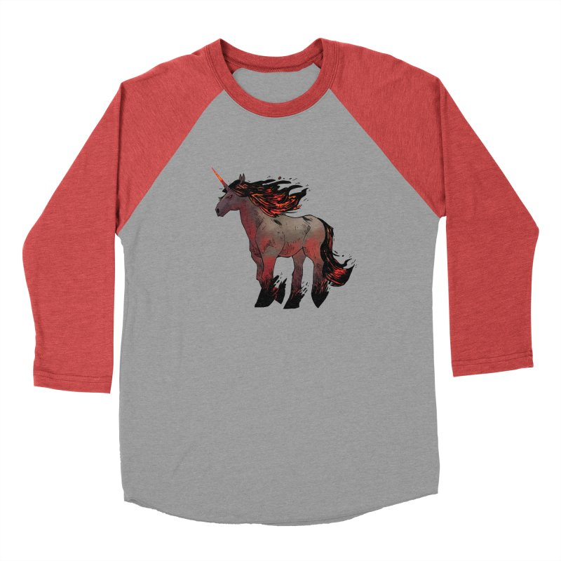 Nightmare Unicorn Men's Baseball Triblend Longsleeve T-Shirt by Kyle Ferrin's Artist Shop