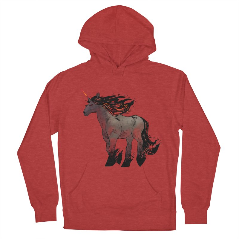 Nightmare Unicorn Men's French Terry Pullover Hoody by Kyle Ferrin's Artist Shop