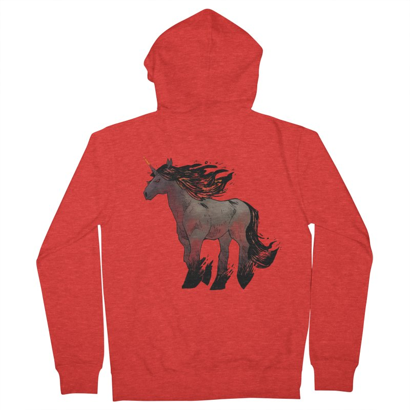 Nightmare Unicorn Women's Zip-Up Hoody by Kyle Ferrin's Artist Shop