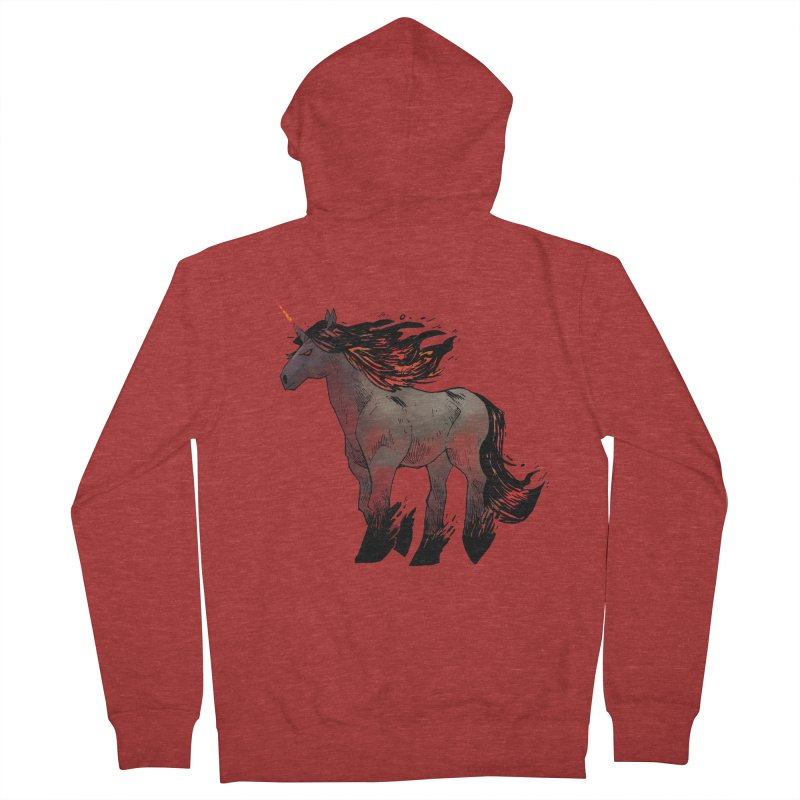 Nightmare Unicorn Women's French Terry Zip-Up Hoody by Kyle Ferrin's Artist Shop