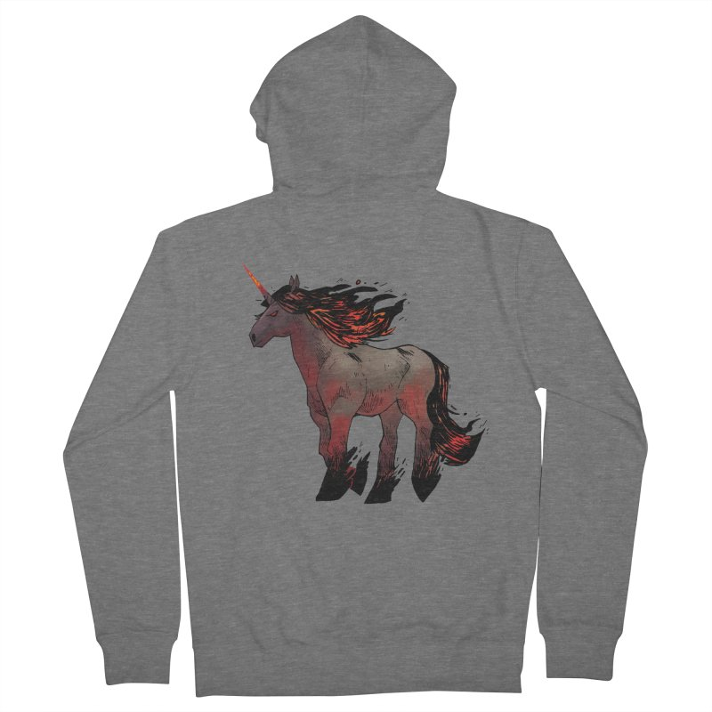 Nightmare Unicorn Men's Zip-Up Hoody by Kyle Ferrin's Artist Shop