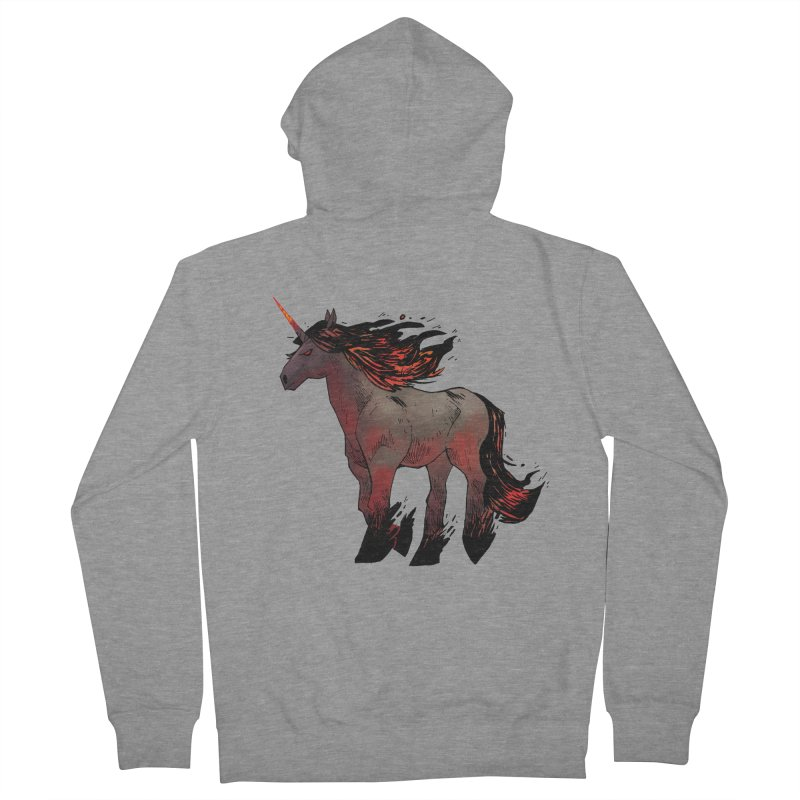 Nightmare Unicorn Men's French Terry Zip-Up Hoody by Kyle Ferrin's Artist Shop