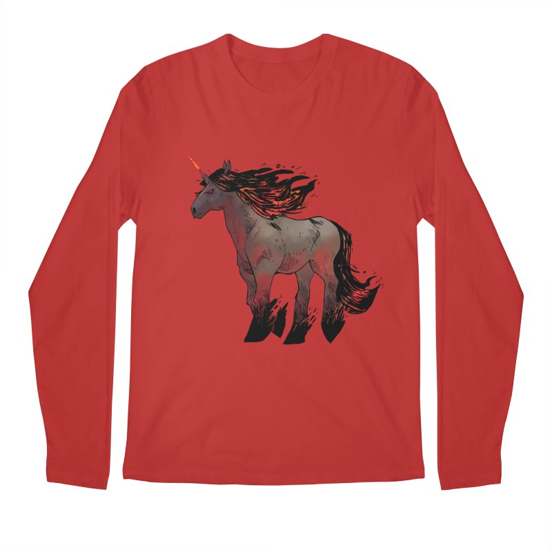 Nightmare Unicorn Men's Longsleeve T-Shirt by Kyle Ferrin's Artist Shop