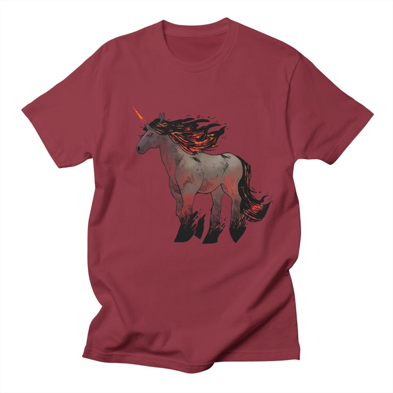 Nightmare Unicorn Men's T-shirt by Kyle Ferrin's Artist Shop