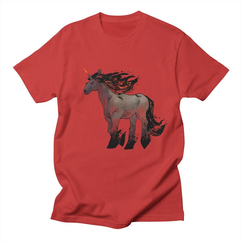 Nightmare Unicorn Men's T-Shirt by Kyle Ferrin's Artist Shop