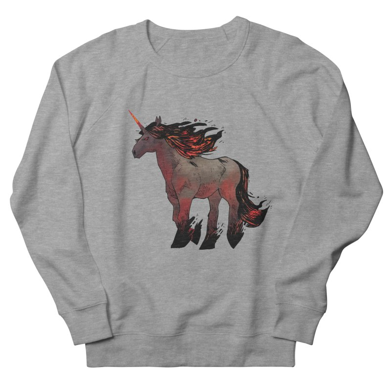 Nightmare Unicorn Women's French Terry Sweatshirt by Kyle Ferrin's Artist Shop
