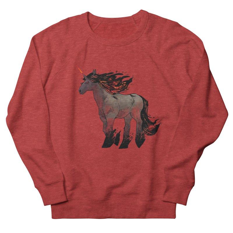Nightmare Unicorn Men's French Terry Sweatshirt by Kyle Ferrin's Artist Shop