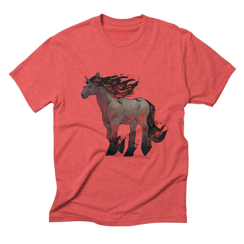 Nightmare Unicorn Men's Triblend T-Shirt by Kyle Ferrin's Artist Shop