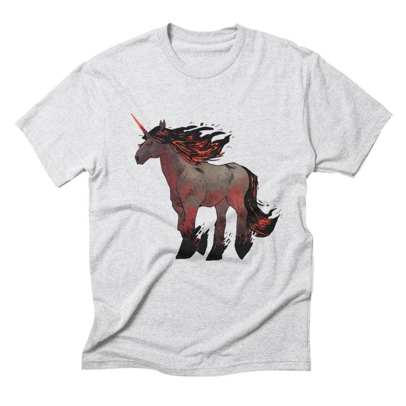 Nightmare Unicorn Men's Triblend T-Shirt by Kyle Ferrin's Artist Shop