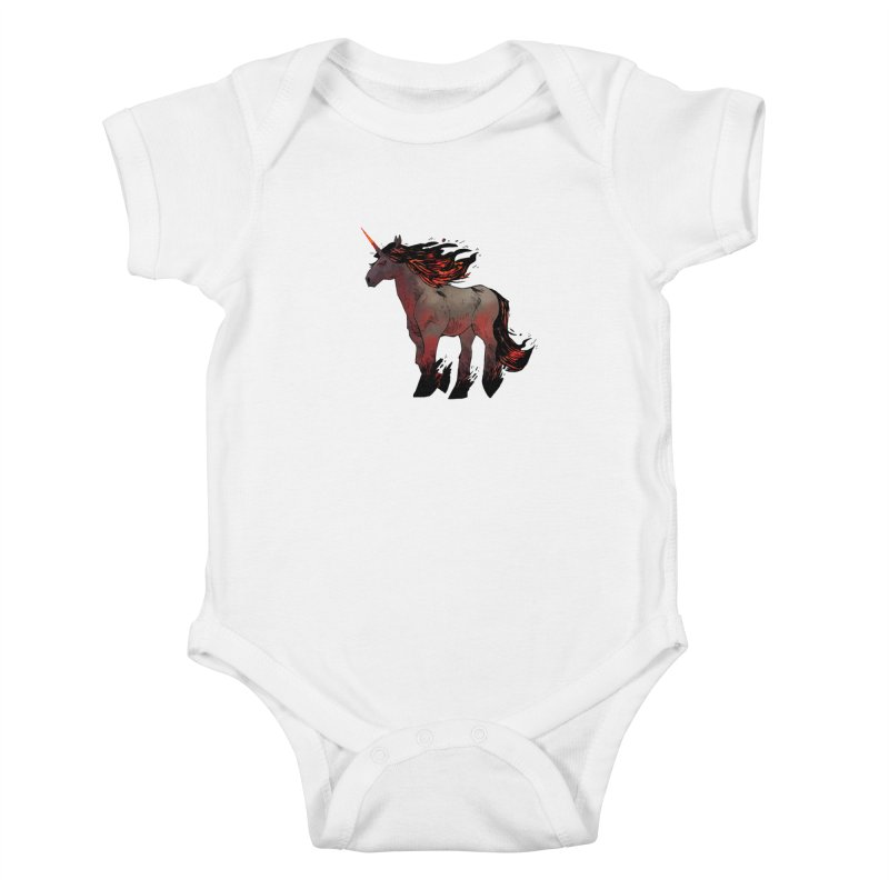 Nightmare Unicorn Kids Baby Bodysuit by Kyle Ferrin's Artist Shop