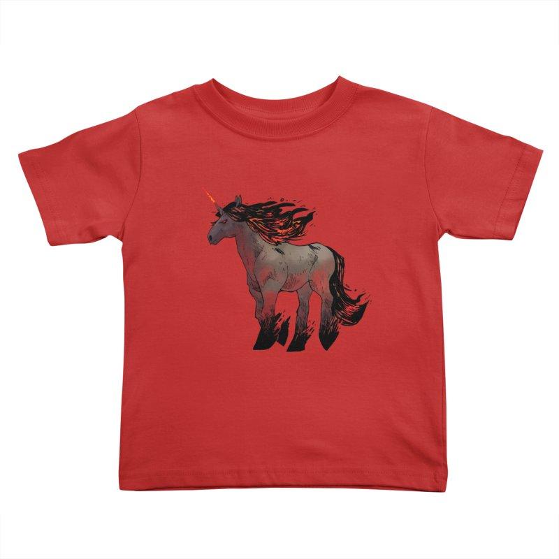 Nightmare Unicorn Kids Toddler T-Shirt by Kyle Ferrin's Artist Shop