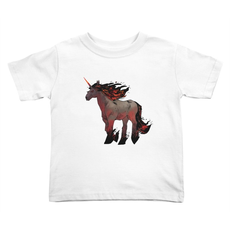 Nightmare Unicorn Kids Toddler T-Shirt by Kyle Ferrin's Artist Shop