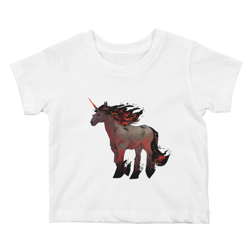 Nightmare Unicorn Kids Baby T-Shirt by Kyle Ferrin's Artist Shop