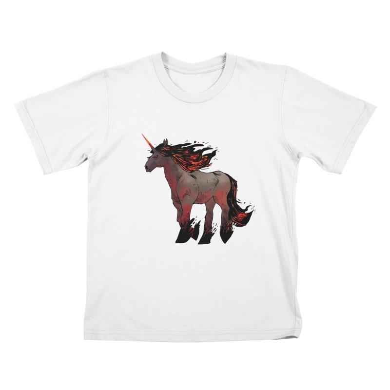 Nightmare Unicorn Kids T-shirt by Kyle Ferrin's Artist Shop