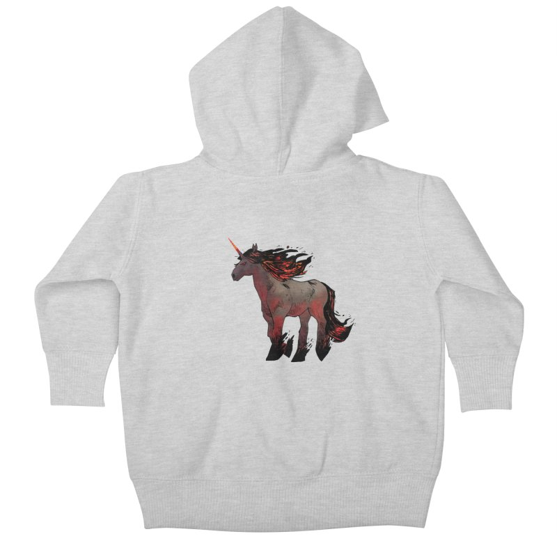 Nightmare Unicorn Kids Baby Zip-Up Hoody by Kyle Ferrin's Artist Shop