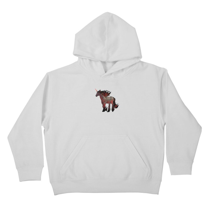 Nightmare Unicorn Kids Pullover Hoody by Kyle Ferrin's Artist Shop