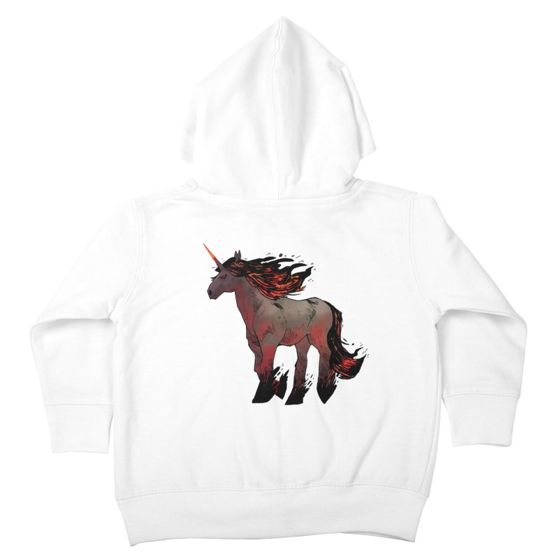 Nightmare Unicorn Kids Toddler Zip-Up Hoody by Kyle Ferrin's Artist Shop