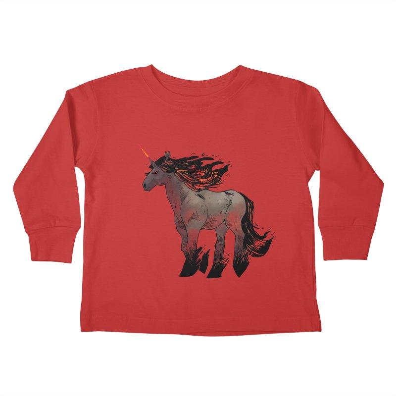 Nightmare Unicorn Kids Toddler Longsleeve T-Shirt by Kyle Ferrin's Artist Shop