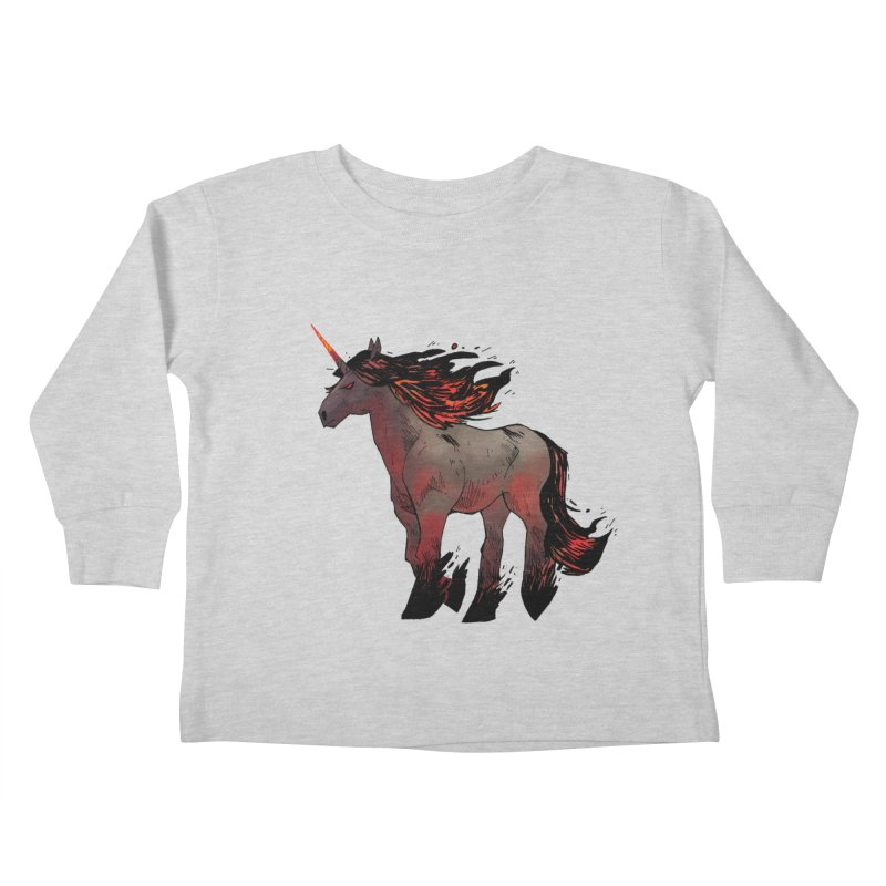 Nightmare Unicorn Kids Toddler Longsleeve T-Shirt by Kyle Ferrin's Artist Shop