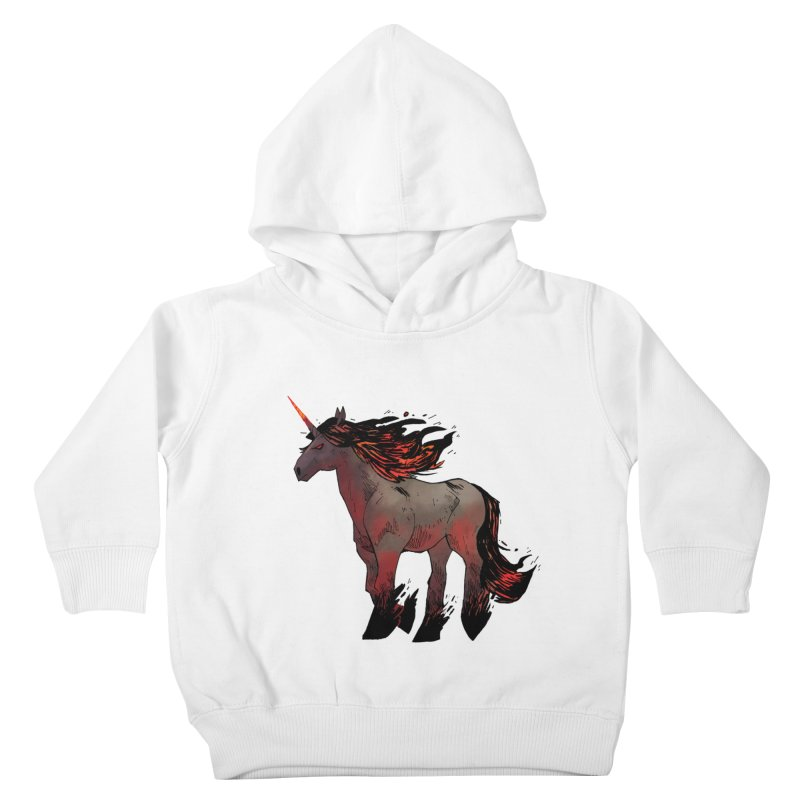 Nightmare Unicorn Kids Toddler Pullover Hoody by Kyle Ferrin's Artist Shop