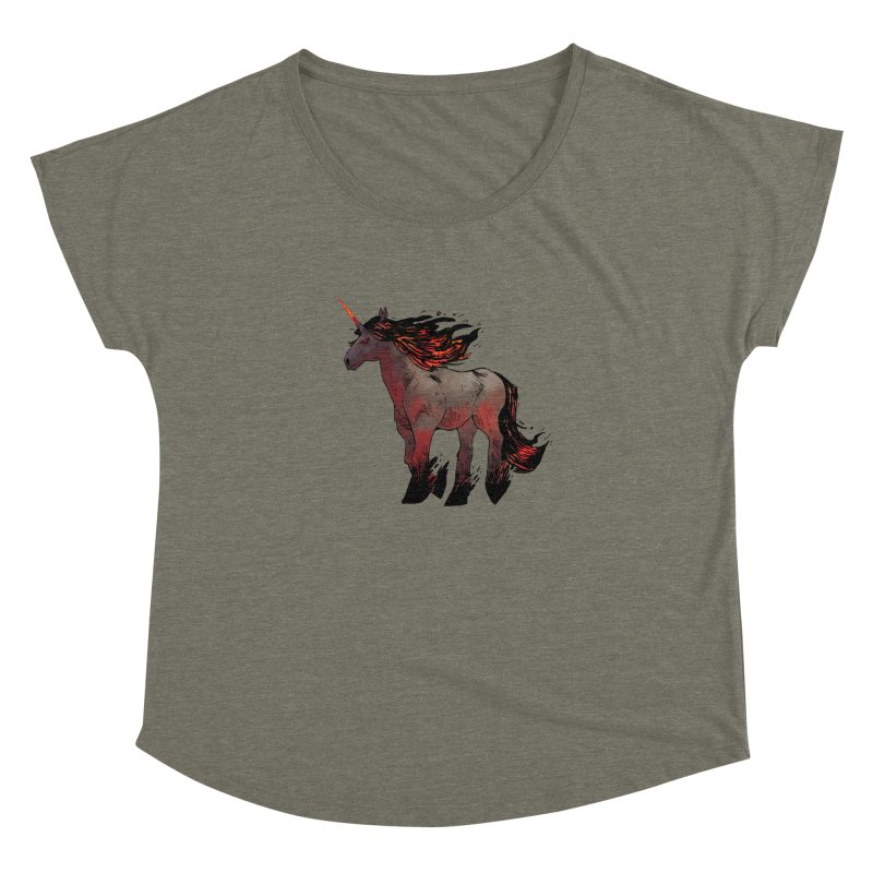 Nightmare Unicorn Women's Dolman Scoop Neck by Kyle Ferrin's Artist Shop