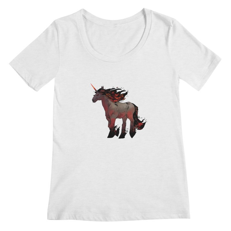 Nightmare Unicorn Women's Scoopneck by Kyle Ferrin's Artist Shop