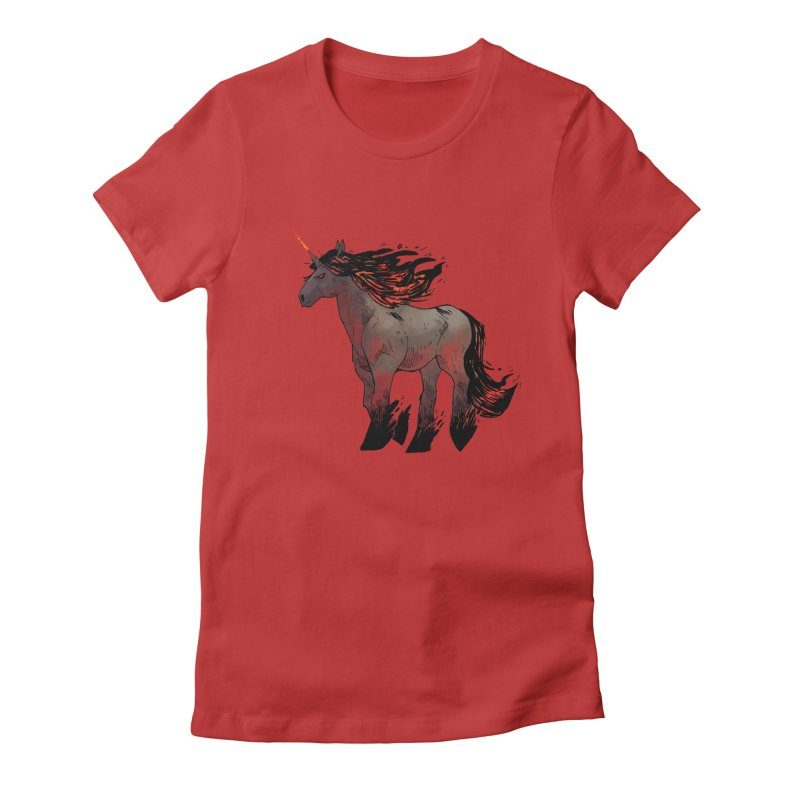 Nightmare Unicorn Women's T-Shirt by Kyle Ferrin's Artist Shop