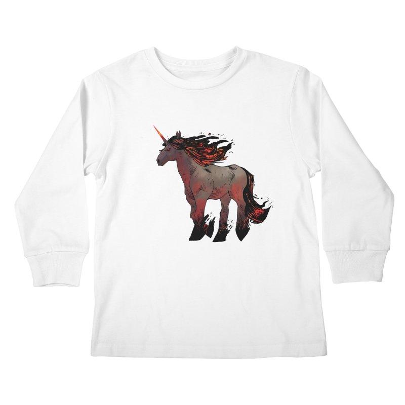 Nightmare Unicorn Kids Longsleeve T-Shirt by Kyle Ferrin's Artist Shop