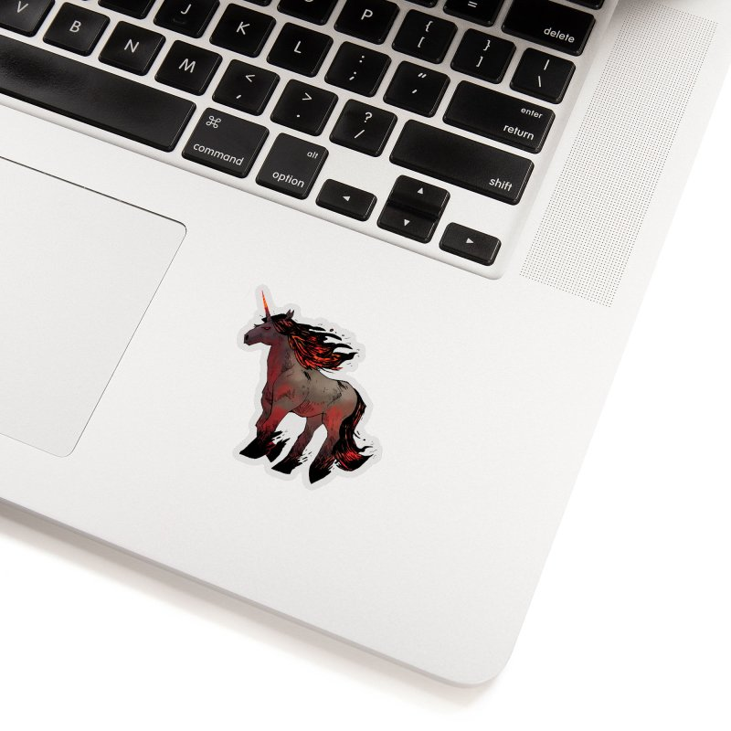Nightmare Unicorn Accessories Sticker by Kyle Ferrin's Artist Shop
