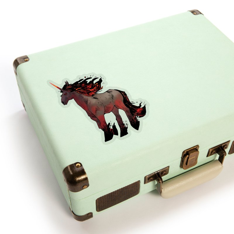 Nightmare Unicorn Accessories Sticker by Kyle Ferrin's Artist Shop