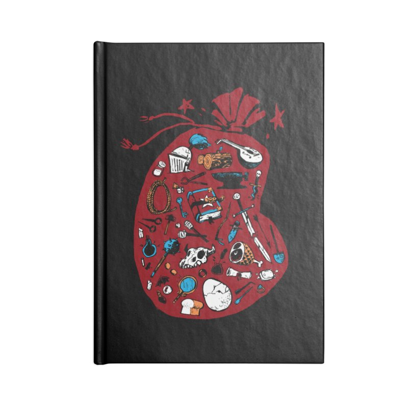 Bag of Holding Accessories Lined Journal Notebook by Kyle Ferrin's Artist Shop