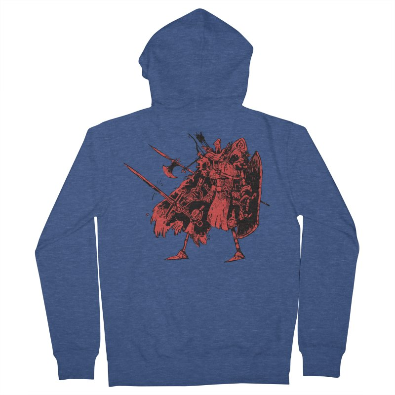 Fighter Women's French Terry Zip-Up Hoody by Kyle Ferrin's Artist Shop