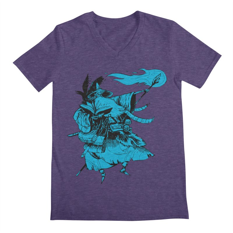 Wizard Men's V-Neck by Kyle Ferrin's Artist Shop