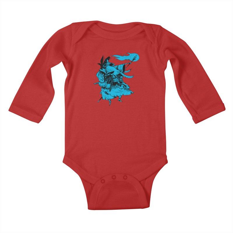 Wizard Kids Baby Longsleeve Bodysuit by Kyle Ferrin's Artist Shop