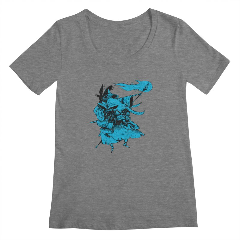 Wizard Women's Scoopneck by Kyle Ferrin's Artist Shop