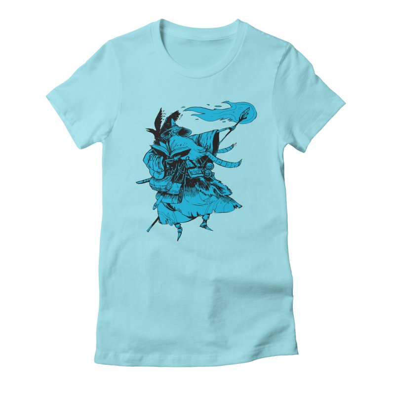 Wizard Women's Fitted T-Shirt by Kyle Ferrin's Artist Shop