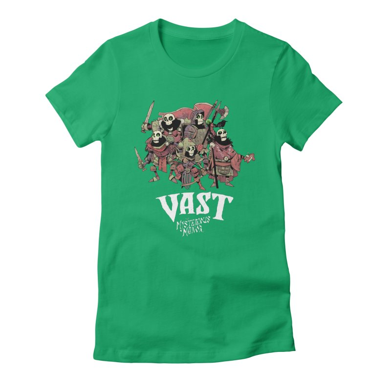 Vast: The Mysterious Manor Skeletons Women's Fitted T-Shirt by Kyle Ferrin's Artist Shop
