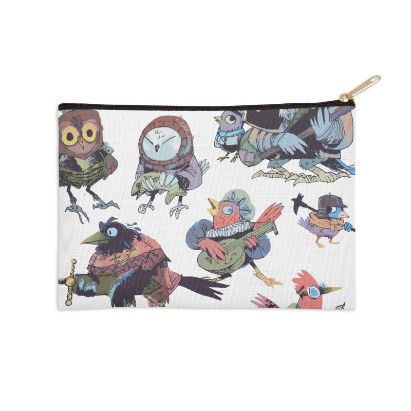 Bird People Accessories Zip Pouch by Kyle Ferrin's Artist Shop