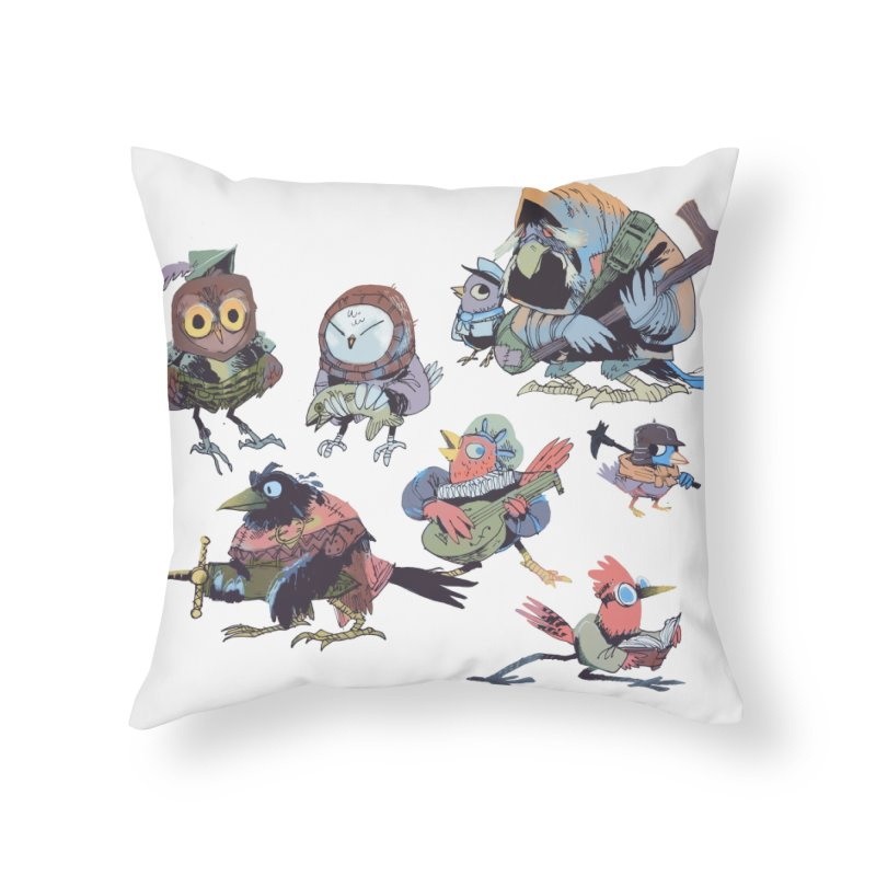 Bird People Home Throw Pillow by Kyle Ferrin's Artist Shop