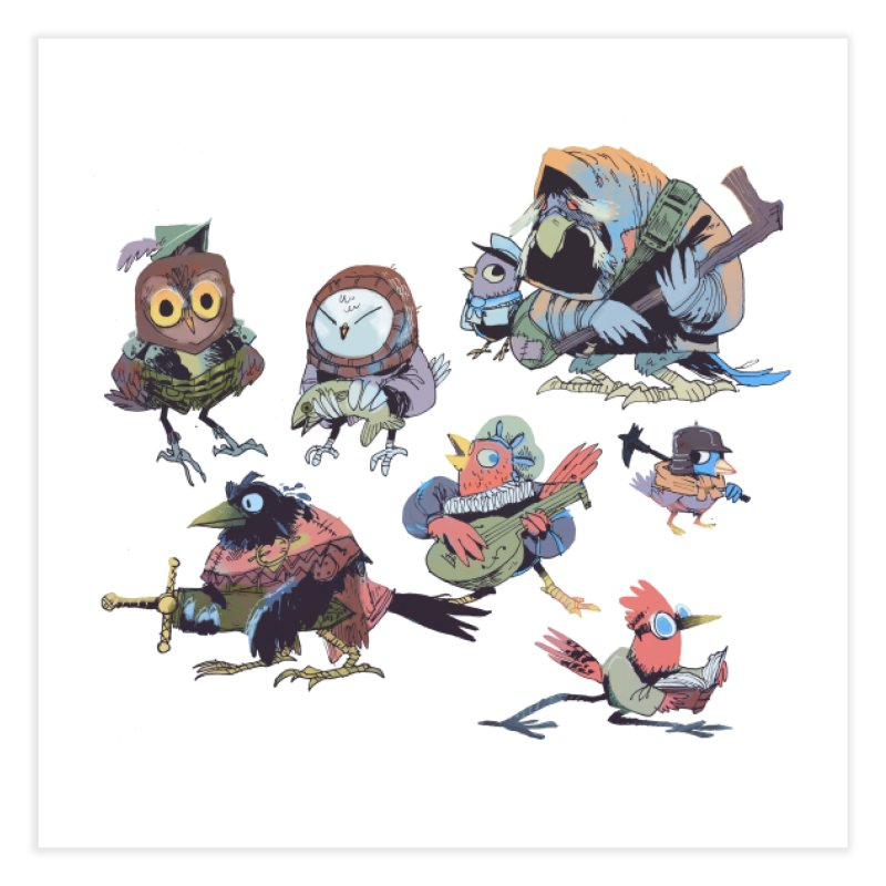 Bird People Home Fine Art Print by Kyle Ferrin's Artist Shop