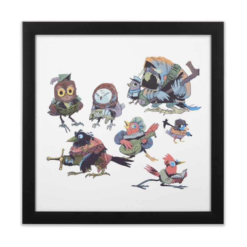 Bird People Home Framed Fine Art Print by Kyle Ferrin's Artist Shop